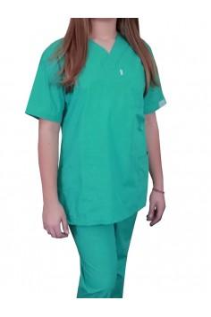 Дамска Медицинска Туника - Светло Зелена
