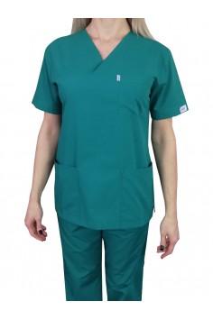 Дамска Медицинска Туника - Тъмно Зелена