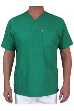 Мъжка Медицинска Туника - Тъмно Зелена
