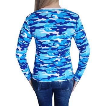 Дамска Моряшка тениска с Дълъг ръкав Дамска Камо тениска с Дълъг ръкав