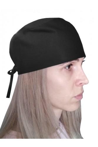Хирургична шапка Черна Хирургична шапка Черна-Е