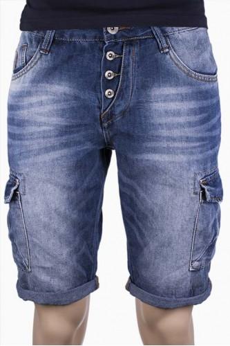 Мъжки къси дънки със странични джобове