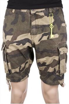 Мъжки къси камуфлажни панталони с връзки