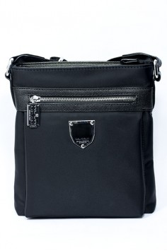 Мъжка черна чанта от полиестер