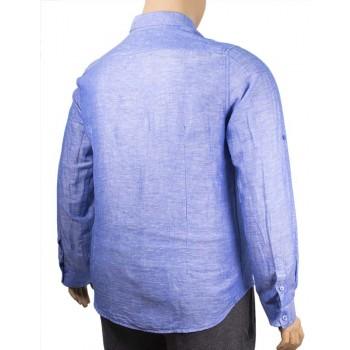 Мъжка риза с дълъг ръкав (Големи Размери)