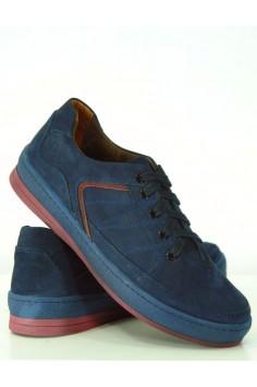 Спортно-елегантни мъжки обувки в тъмно синьо