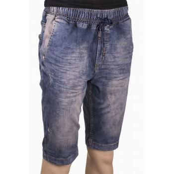 Мъжки къси дънки с ластик на талията