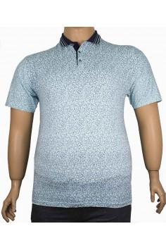 Мъжка тениска с яка и копченца (от 2XL до 5XL)