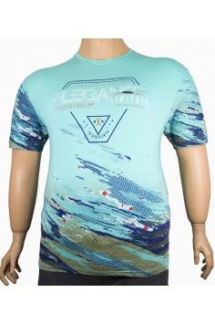 Мъжка тениска с цветен принт (от 2XL до 5XL)