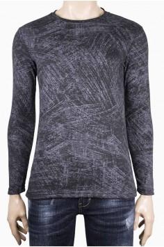 Мъжка трикотажна блуза с обърнато деколте