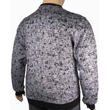 Мъжка блуза в сиво и черно (от 2XL до 5XL)