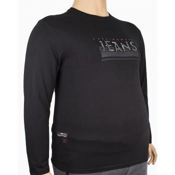 Мъжка трикотажна блуза със семпъл принт (от 2XL до 5XL)