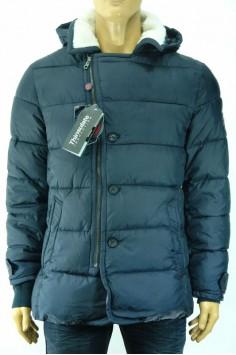 Зимно мъжко яке с диагонално закопчаване и био пух