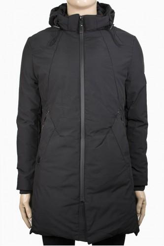 Мъжко издължено яке в черен цвят