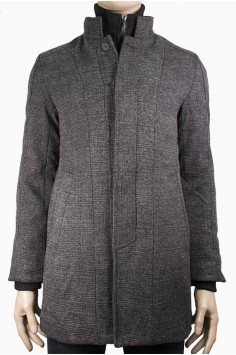Мъжко вталено елегантно палто с изчистен дизайн