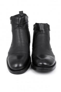 Мъжки боти в черно с ципове