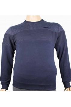 Мъжка трикотажна блуза в синьо (от 3XL до 5XL)