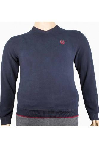 Мъжка стилна блуза с остро деколте (от 3XLдо 5XL)