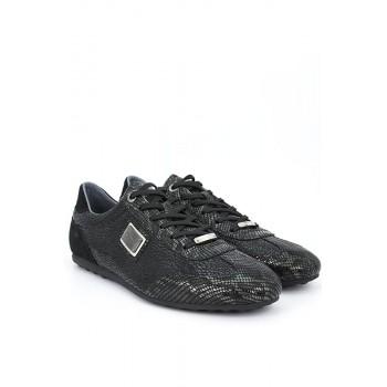Мъжки елегантни обувки от естествена кожа с крокодилски принт