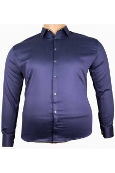 Мъжка официална риза в тъмно син цвят