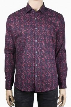 Мъжка риза с ярък десен
