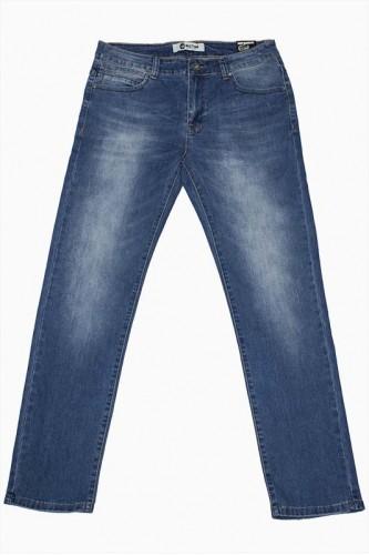Мъжки дънки от светло син деним (Големи размери)