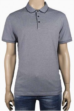 Стилна тениска с яка със ситно каре