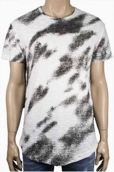 Мъжка тениска с два ципа в бяло