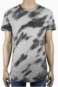 Мъжка тениска с два ципа в сиво