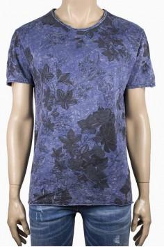Мъжка синя тениска,тип варена