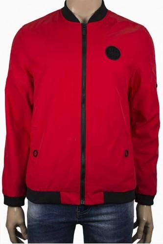 Мъжко яке в червен цвят, тип Пилотско