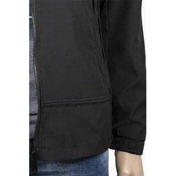 Късо мъжко черно яке с качулка