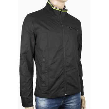 Мъжко пролетно вталено яке в черен цвят