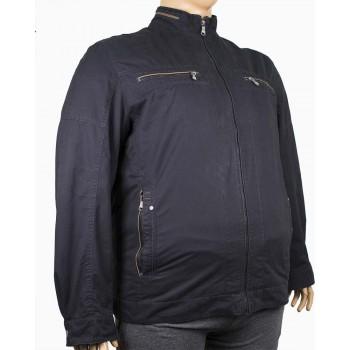 Мъжко пролетно яке с цип и джобове (Големи размери)