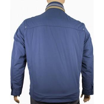 Мъжко пролетно яке в син цвят (Големи размери)