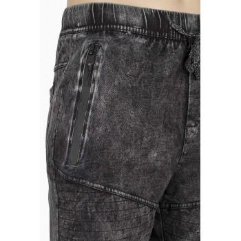 Къса дънкова долница в черно