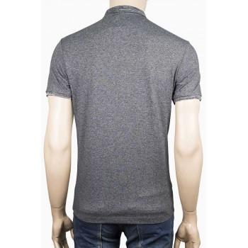 Тениска с яка с малък принт Елен