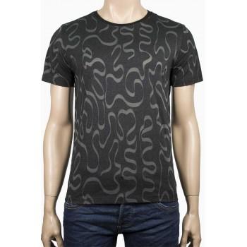 Бяла тениска с бели прозрачни линии