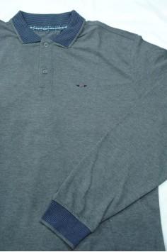 Стилна мъжка блуза с яка (от 3XL до 5XL)