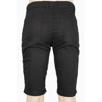 Къс панталон в черен цвят с декоративни ципове
