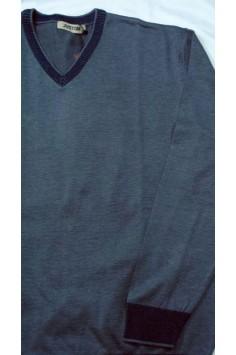 Мъжка блуза с V-образно деколте (от 2XL до 4XL)
