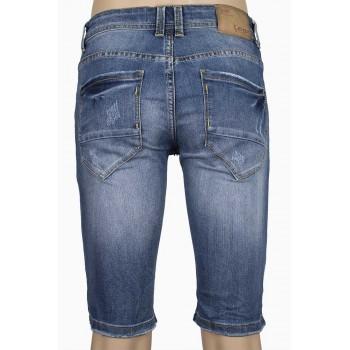 Изчистени къси мъжки дънкови панталони