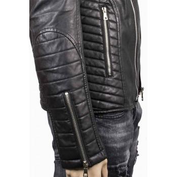 Късо яке с диагонално закопчаване