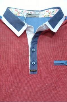 Модерна мъжка блуза с яка (от XL до 4XL)