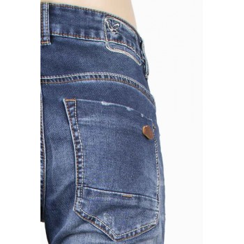 Сини дънки с ключодържател