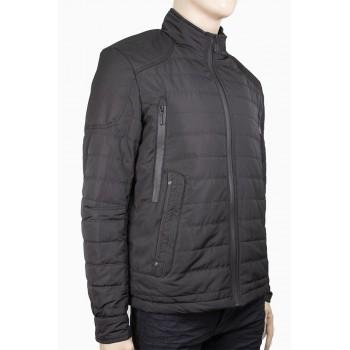 Стилно мъжко яке с пухена подплата в черен цвят