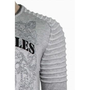 Блуза плетиво в светло сиво