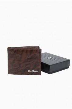 Стилен мъжки портфейл в кафяво Pierre