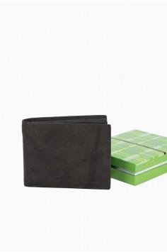 Мъжки портфейл класически дизайн в тъмно кафяво