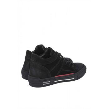 Мъжки обувки от набук и ластични връзки